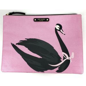 Kate Spade Gia Swan Around Pouch Cosmetic Bag